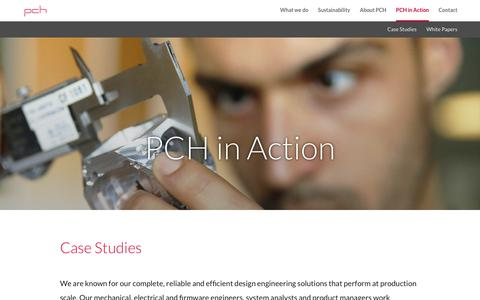 Screenshot of Case Studies Page pchintl.com - PCH in Action | PCH International - captured July 12, 2018