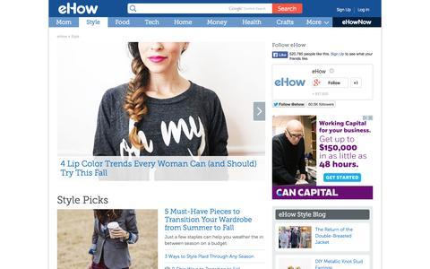 Screenshot of ehow.com - Style How Tos & Tips   eHow - captured Oct. 22, 2014