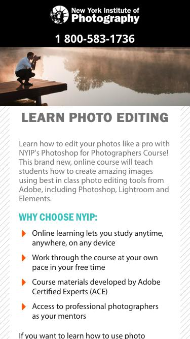 Learn Photo Editing - New York Institute of Photography