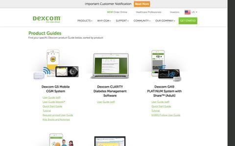Dexcom Product Guides | Web Based Education | Dexcom