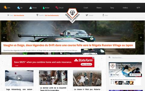 Screenshot of Home Page sports-extremes.net - Sports-Extremes.net   L'actualité des sports extrêmes - captured Jan. 19, 2016
