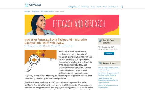 Screenshot of Case Studies Page cengage.com - Case Studies Archives - Page 2 of 4 - Cengage Blog - captured Aug. 4, 2017