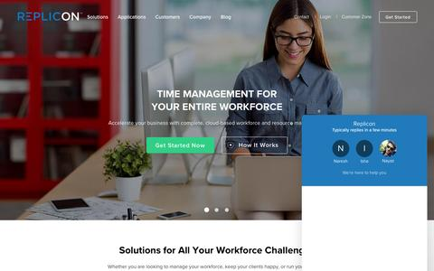 Time Tracking Software in the Cloud - Replicon
