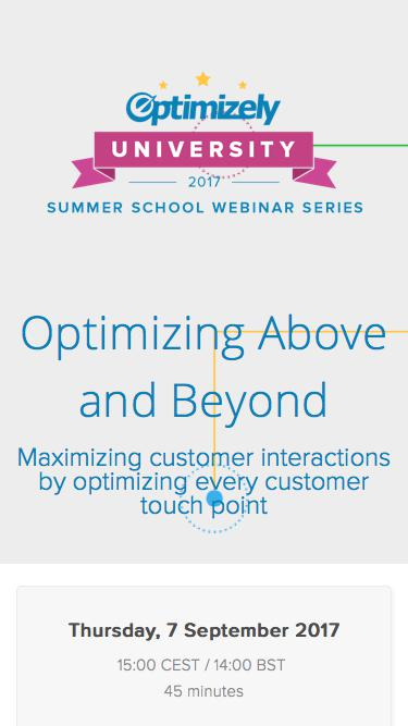 Optimizing Above and Beyond