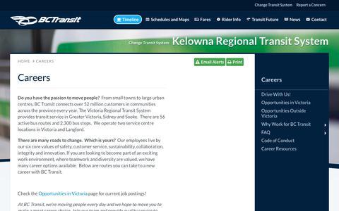 Screenshot of Jobs Page bctransit.com - BC Transit - Careers | BC Transit - captured Feb. 18, 2018