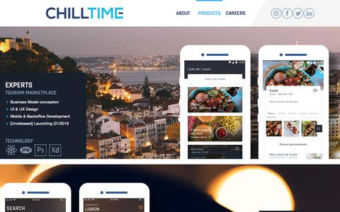 Screenshot of Products Page chilltime.com - Projects | Chilltime - captured Feb. 3, 2019