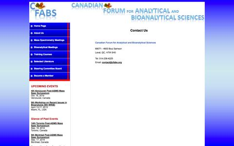Screenshot of Contact Page cfabs.org - CFABS - Contact Us - captured Oct. 1, 2014
