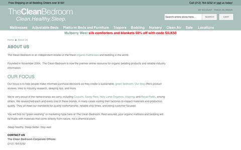 Screenshot of About Page thecleanbedroom.com - About Us - captured Oct. 30, 2019