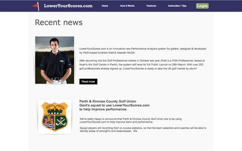 Screenshot of Press Page loweryourscores.com - LowerYourScores.com | Golf statistics | Improve Your Golf  | News - captured Sept. 17, 2017