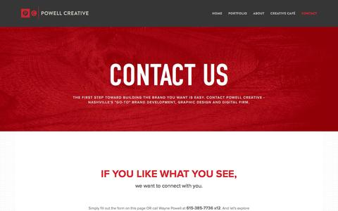 Screenshot of Contact Page powellcreative.com - Contact – Powell Creative - captured Jan. 30, 2016