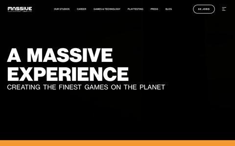 Screenshot of Home Page massive.se - Start - Massive - captured Oct. 17, 2018