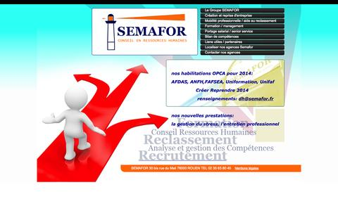 Screenshot of Home Page semafor.fr - ∞ SEMAFOR Conseil en ressources humaines - captured Jan. 27, 2015