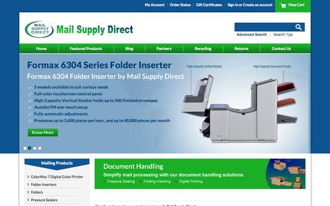 Screenshot of Home Page dmssupplies.com - Folder Inserters, Postage Meters, Pressure Sealers, ColorMax 7 Printers, and other High Quality Mailing Equipment in Tampa Bay, Orlando, & Sarasota - captured Oct. 3, 2014