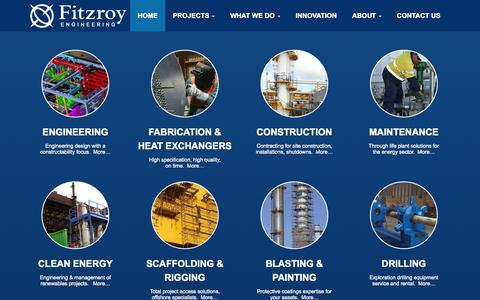 Screenshot of Home Page fitzroy.co.nz - Fitzroy Engineering - Home - captured Oct. 6, 2014