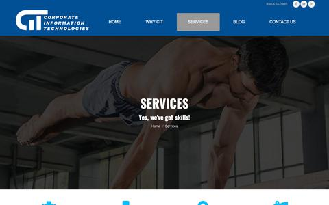 Screenshot of Services Page corp-infotech.com - Trusted IT Security | Managed IT Services | Network Support - Charlotte, NC - captured Sept. 29, 2018