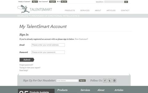 My TalentSmart Account Sign In  - TalentSmart
