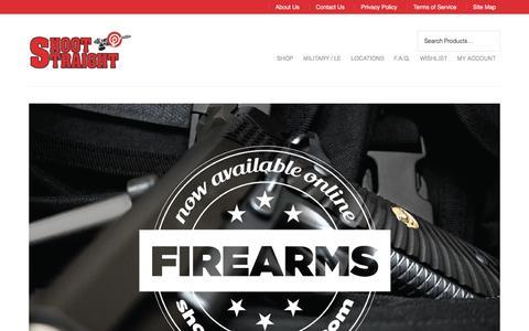 Screenshot of Home Page shoot-straight.com - Shoot Straight - Since 1979 - captured Nov. 18, 2016