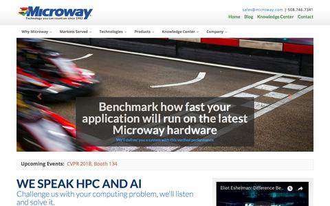 Home | Microway | Technology you can count on, since 1982