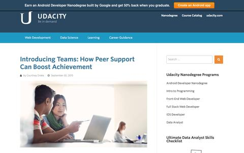 Screenshot of Blog udacity.com - Udacity - Be in Demand - - captured Oct. 1, 2015