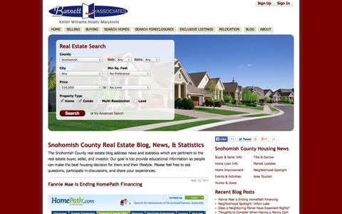 Screenshot of Blog barnettassociates.net - Snohomish County Real Estate Blog, News, & Statistics - BarnettAssociates.net - captured Oct. 5, 2014