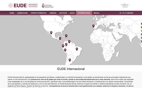 Screenshot of FAQ Page eude.es - EUDE Internacional - Eude Business School - captured July 11, 2017