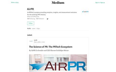 AirPR – Medium