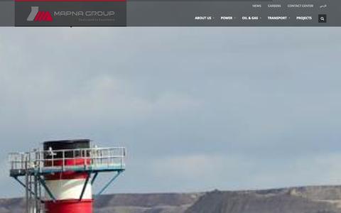 Screenshot of Home Page mapnagroup.com - Homepage - MAPNA Group - captured Sept. 19, 2014