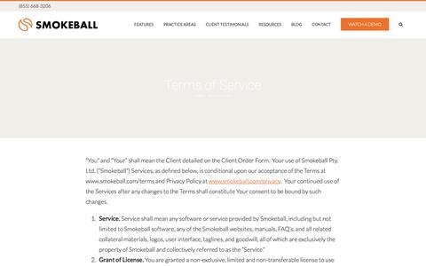 Terms of Service - Smokeball