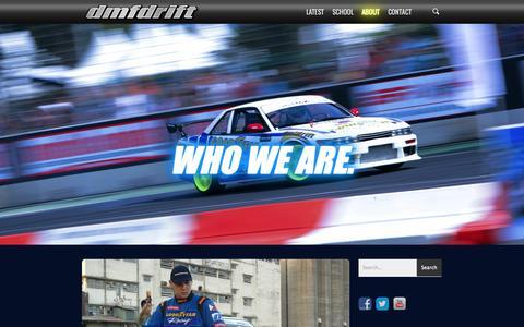 Screenshot of About Page dmfdrift.com - How We Started - DMF Drift - captured Oct. 27, 2014