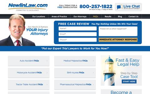 Orlando Personal Injury Attorneys - Newlin Law FAQ's