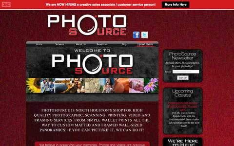 Screenshot of Home Page photosource.com - PhotoSource | Photo, Printing, Scanning, Video, Audio, Framing - captured Oct. 2, 2014