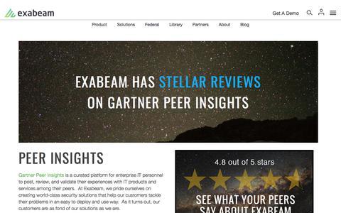 Gartner Peer Insights on Exabeam Security Intelligence Platform