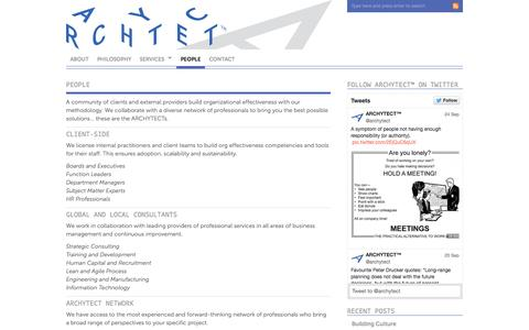Screenshot of Team Page archytect.org - People | ARCHYTECT™ - captured Oct. 4, 2014