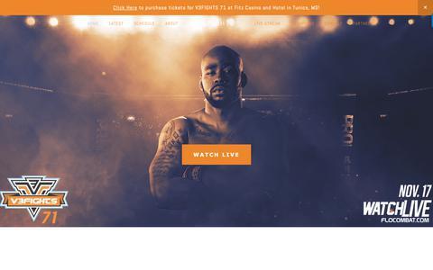 Screenshot of Home Page v3fights.com - V3FIGHTS - captured Nov. 18, 2018
