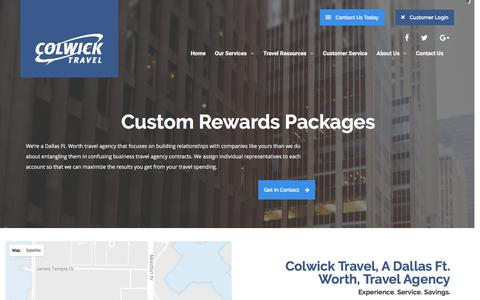 Screenshot of Contact Page colwick.com - Travel Agency - Contact Colwick Travel - captured Nov. 9, 2016