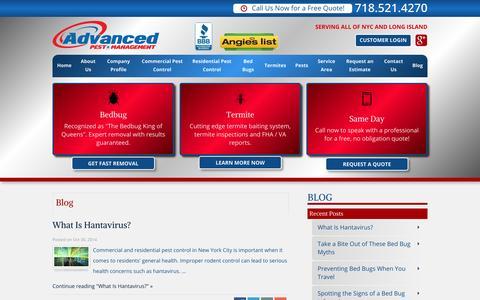 Screenshot of Blog advancedexterminating.com - Advanced Pest Management Exterminating Blog - captured Nov. 2, 2014