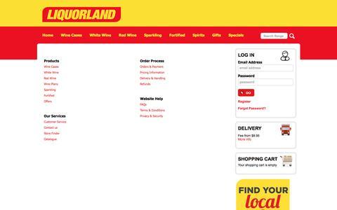 Screenshot of Site Map Page liquorland.com.au - Liquorland - Site Map - captured July 15, 2016