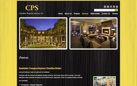 Screenshot of Services Page completeproperty.com - Services | CPS - captured Oct. 3, 2014