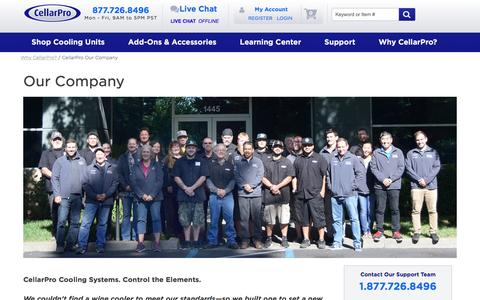 Screenshot of About Page cellarprocoolingsystems.com - Wine Cellar Refrigeration Systems: About CellarPro - captured July 16, 2018