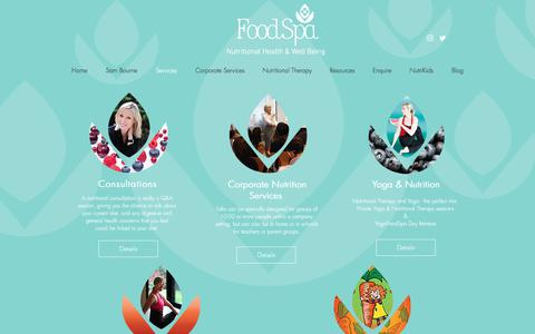 Screenshot of Services Page foodspa.org.uk - Foodspa | Services - captured Aug. 19, 2018