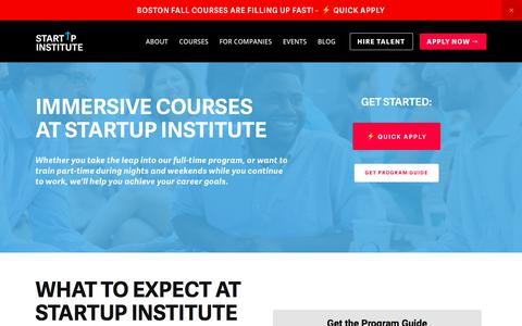 Screenshot of startupinstitute.com - Full and Part-Time Coding, Web Design, Marketing, and Sales Courses | Startup Institute - captured Oct. 10, 2017