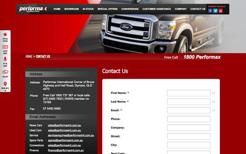 Screenshot of Privacy Page Contact Page performaxint.com.au - American Car Imports & American Cars For Sale | Contact us - captured Oct. 22, 2014