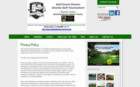 Screenshot of Privacy Page my-aga.org - Privacy Policy | Houston, Texas USA |  American Golf Association - captured Oct. 4, 2014