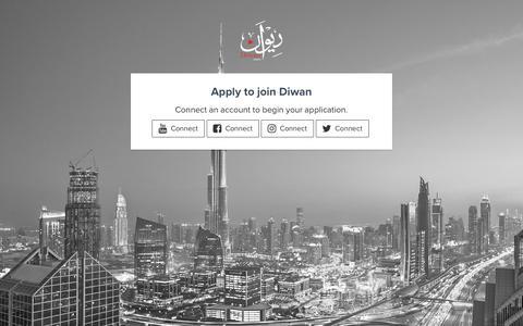 Screenshot of Signup Page diwangroup.com - Apply — Diwan - captured Oct. 25, 2018