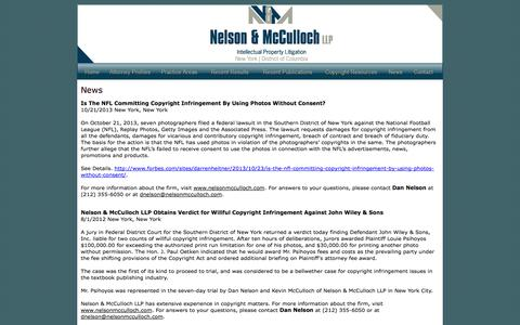 Screenshot of Press Page nelsonmcculloch.com - Nelson & McCulloch LLP Attorney's At Law - captured Oct. 6, 2014