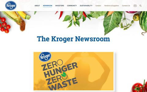 Screenshot of Press Page thekrogerco.com - Newsroom – The Kroger Co. - captured Oct. 29, 2017