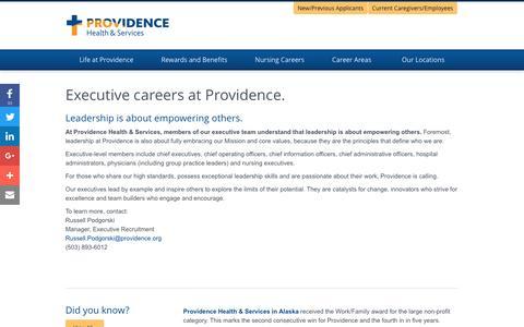 Screenshot of Home Page providence-executive.jobs - Providence Executive Jobs - captured Jan. 24, 2017