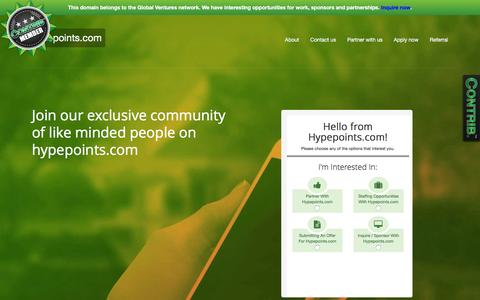 Screenshot of Contact Page hypepoints.com - Hypepoints.com - Contact Us - captured Feb. 21, 2016