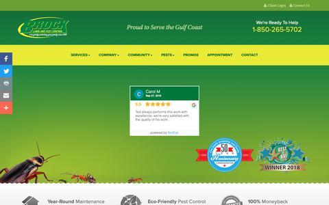 Screenshot of Testimonials Page brockpest.com - Brock Lawn And Pest Control   Pest Control Reviews - captured Dec. 19, 2018