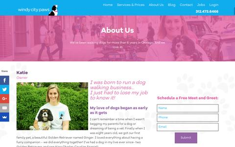 Screenshot of About Page windycitypaws.com - About Us - Windy City Paws - captured Nov. 30, 2016